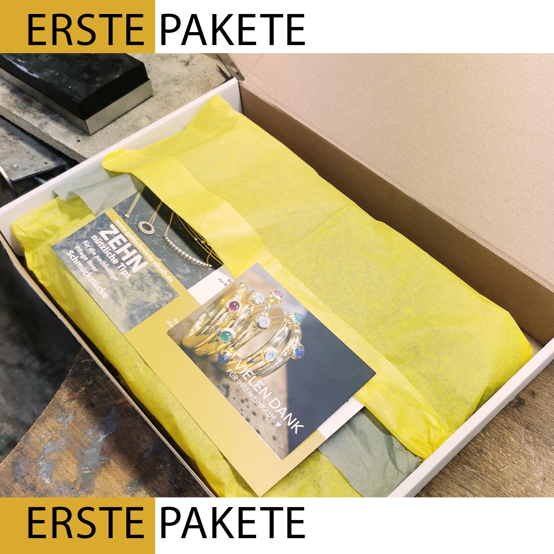 gelbes Paket Online Shop Goldschmiede Albath